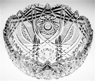 Higgins and Seiter Webster Brilliant Cut Glass Bowl