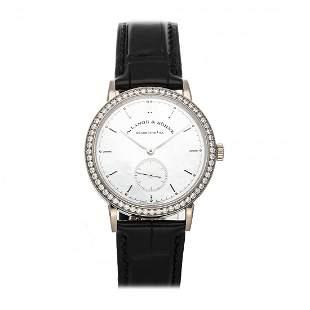 A. Lange & Sohne Saxonia 18k White Gold Diamond Watch