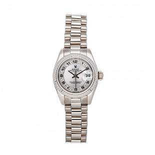 Rolex Datejust 26 18k White Gold Diamond Watch 179179