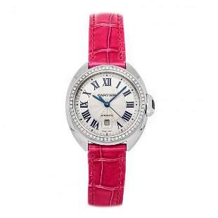 Cartier Cle de Cartier 18k White Gold Diamond Watch