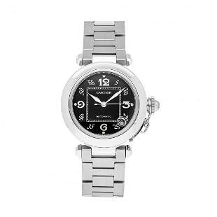 Cartier Pasha C Steel Black Dial Watch W31043M7