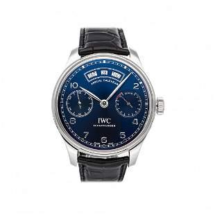 IWC Portuguese Annual Calendar Steel Watch IW5035-02