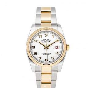 Rolex Datejust 36mm Two-Tone White Dial Watch 116233
