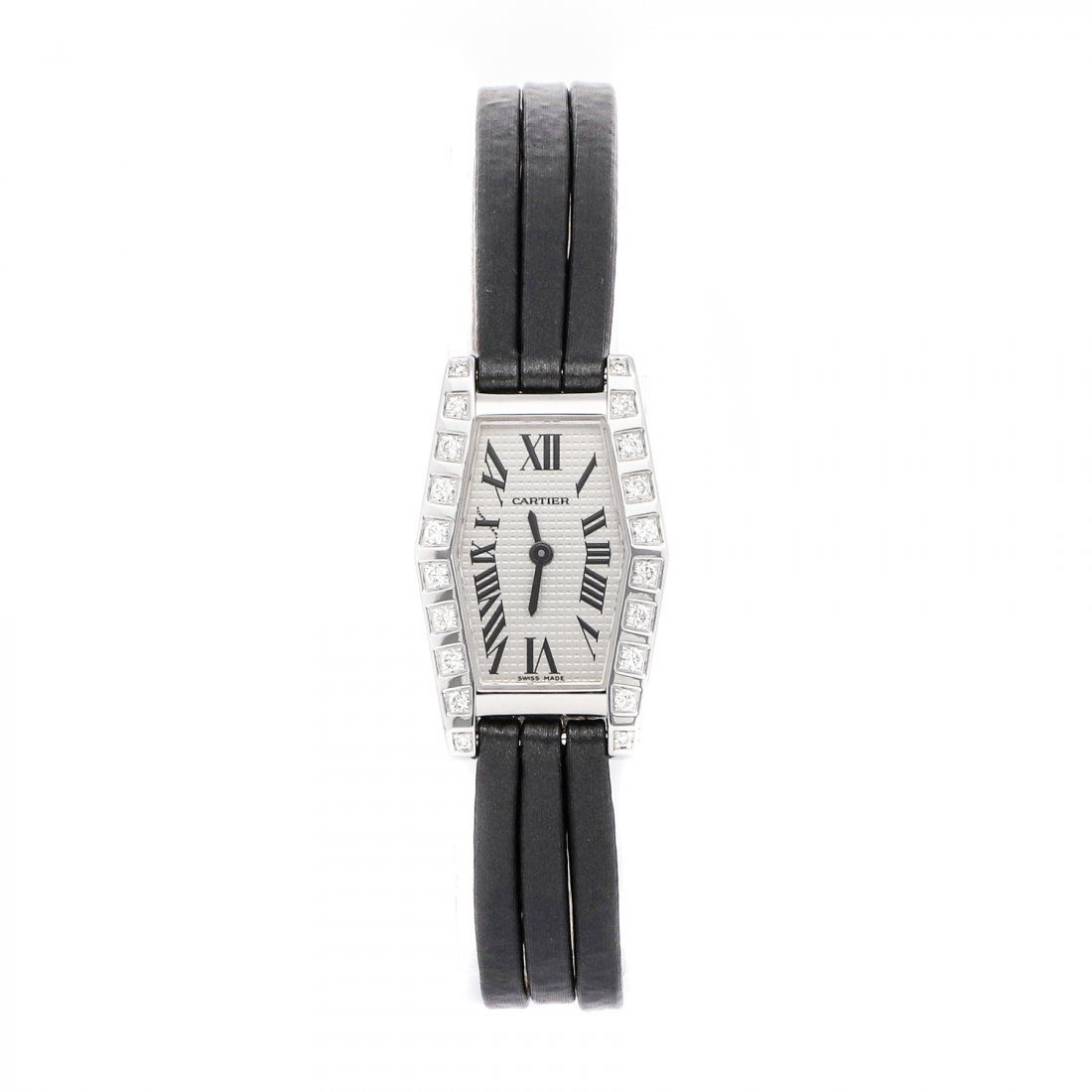 Cartier Hexagonal 18k White Gold Diamond Watch WJ200538
