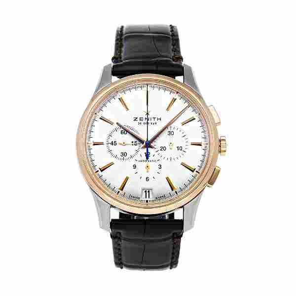 Zenith Captain Chronograph Steel 18k Gold Watch
