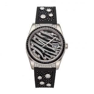 Rolex Datejust Zebra Diamond Sapphire Watch 116199SANR