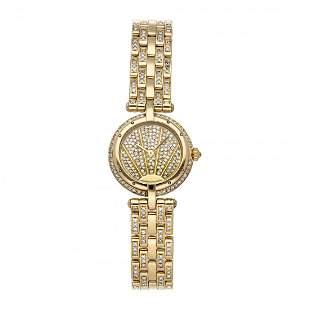 Cartier Panthere VLC 18k Gold Diamond Watch WF5016FJ