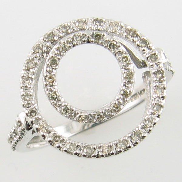 4008: 14KT DIAMOND COCTAIL WHITE GOLD RING 0.25 TCW