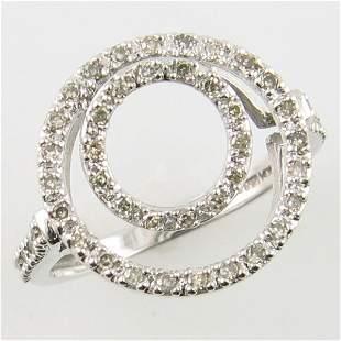 14KT DIAMOND COCTAIL WHITE GOLD RING 0.25 TCW