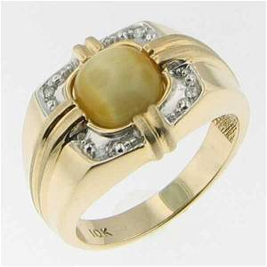 5217: 10KT MEN'S SAPPHIRE DIAMOND GOLD RING SIZE10.5