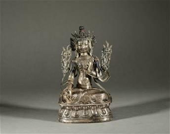 Silver Tara in Qing Dynasty