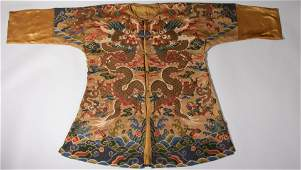 Embroidered Dragon Robe Qing Dynasty