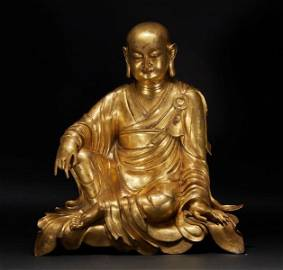 Gilt bronze statue of Guanyin Bodhisattva Ying from the