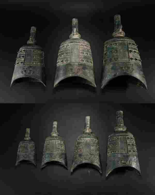 Yuan Dynasty, Bronze a set of chimes