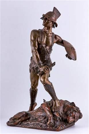Edouard Drouot bronze sculpture