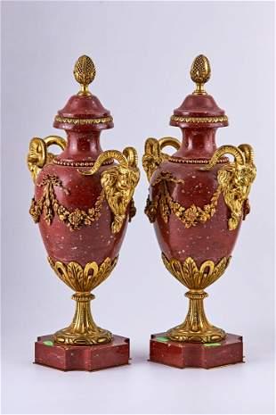 Pair of Neoclassical Empire vases