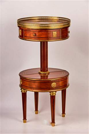Art deco rosewood console with drawers