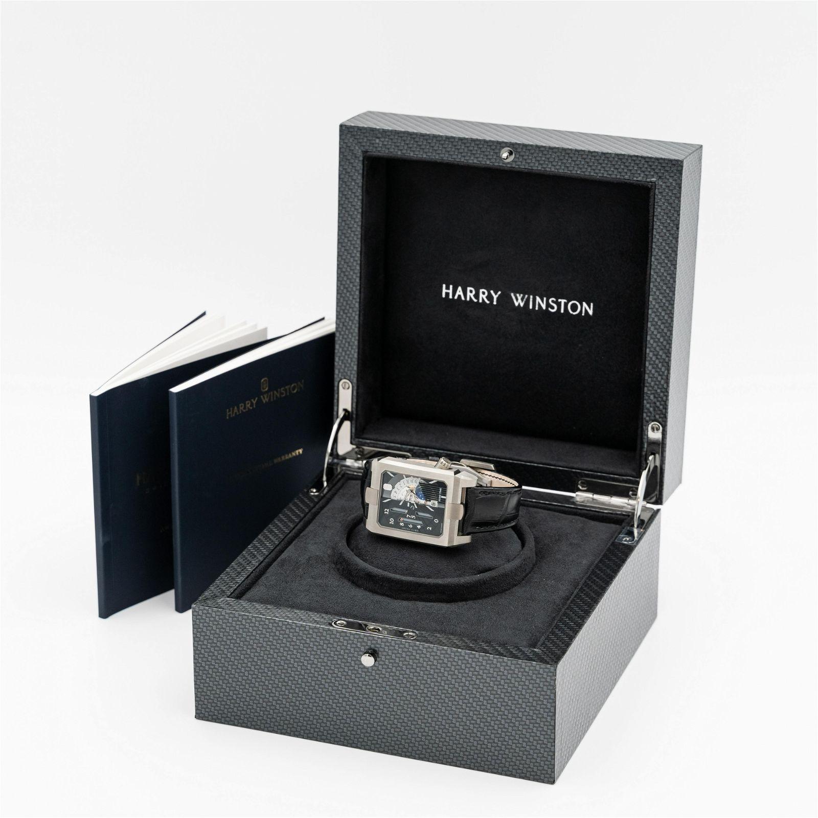 Harry Winston Zalium Avenue AVEATZ37ZZ001 Men's Watch.