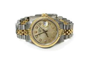 Ladies Rolex Oyster Perpetual DATE, Perfect!, 18k Gold,