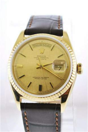 1969 Rolex Day-Date Wristwatch in 18K Yellow Gold with