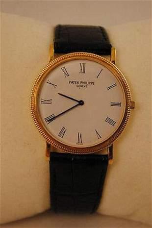 PATEK PHILIPPE Ultra-Thin Calatrava Men's Wristwatch in