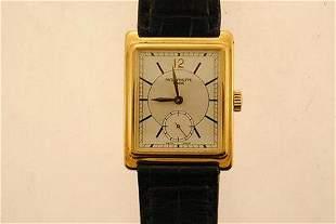 PATEK PHILIPPE Vintage Men's 18K Yellow Gold Wristwatch