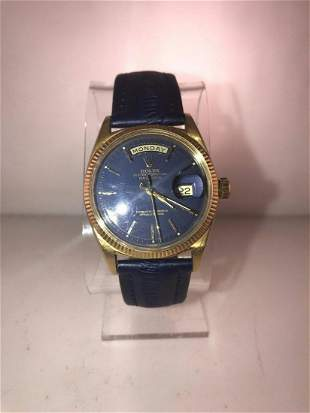 ROLEX Day-Date Wristwatch in 18K Yellow Gold with Royal