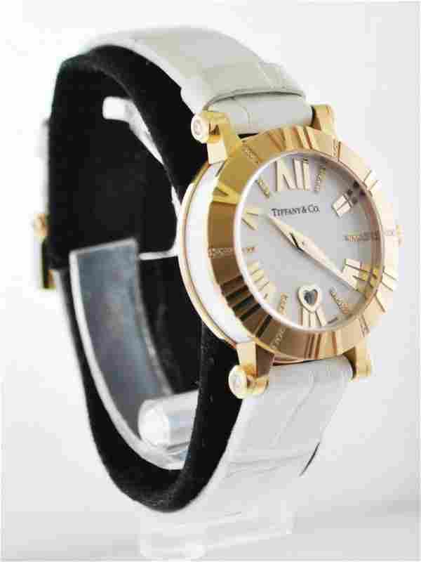 TIFFANY & CO. Atlas Diamond 18K Rose Gold Wristwatch on