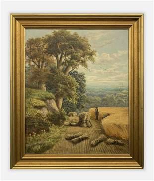 "1890 Horace Mann Livens ""A Cornfield (Gomshall-Surrey)"""