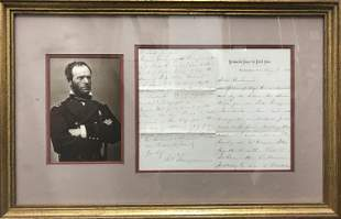 four-page letter from Civil War Union General to his