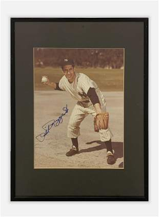 """PHIL RIZUTTO """"The Scooter"""" Autographed Photo C. 1950 -"""