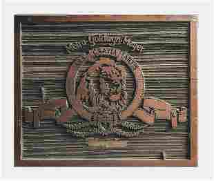 MGM Studios Commemorative Carved Wood Logo -w/CoA- &