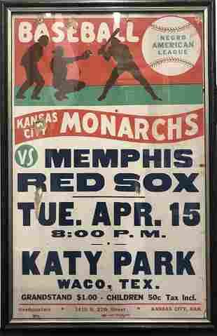"Negro American League Broadside: ""Kansas City Monarchs"