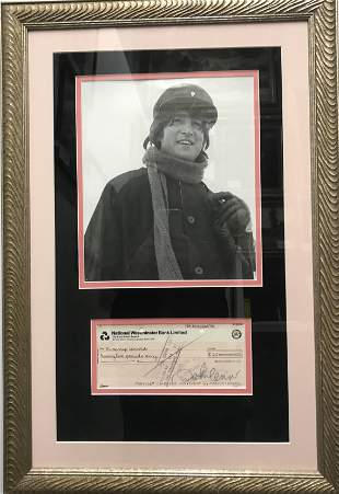 Autographed Check with Photo