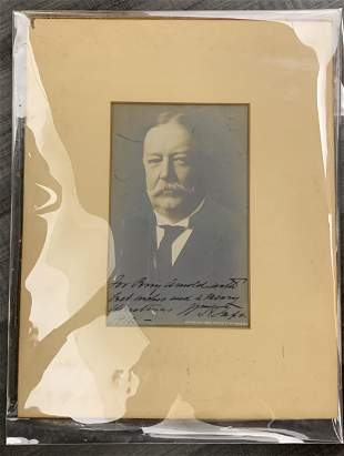 President WILLIAM TAFT Signed and Autographed