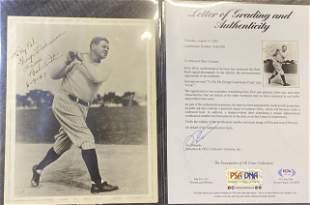 Babe Ruth Extremely Rare Signed Gem Mint Vintage Photo