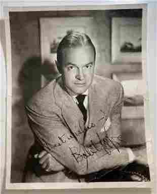 Bob Hope Autographed 1940's-50's Photograph - $2k APR