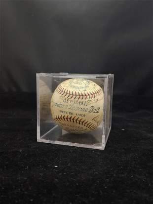 1929 New York Yankees Team-Signed Baseball with Babe