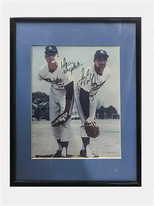 Sandy Koufax, Don Drysdale Autographed Color Portrait