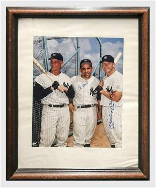 Yogi Berra, Mickey Mantle Autographed Color Photograph