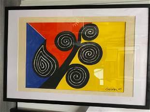 """Alexander Calder, """"Autumn Harvest"""", Signed Color"""