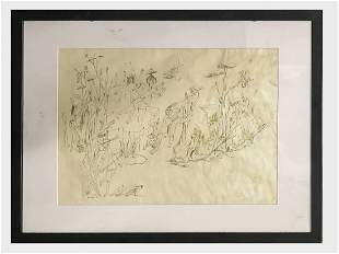 Walter Quirt, Untitled (Surreal Figures) 1939 Etching -