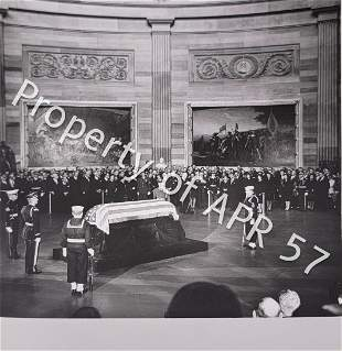 Vintage Photograph of John F Kennedy's Funeral - $800