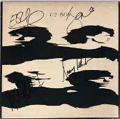 Edge Bono Autograph Signed U2 Boy Vinyl