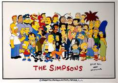 Autograph Signed Simpsons Poster