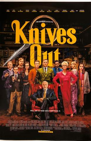 Signed Knives Out Daniel Craig Poster