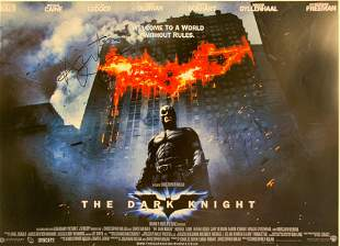 Christian Bale Autograph Signed Dark Knight Poster