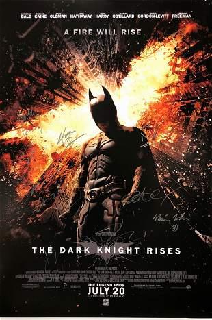 Signed Batman Dark Knight Rises Poster Christian Bale