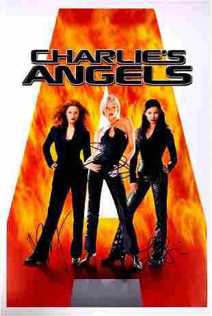 Cameron Diaz Autograph Signed Charlie's Angels Poster