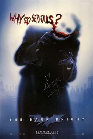Batman Dark Knight Poster Heath Ledger Autographed